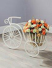 Kreative Eisen Blume Rack Einfache Fahrrad Blume Stand Multilayer Blume Rack Balkon Boden Pflanzer Regal Einfache Moderne Wohnzimmer Indoor Flower Rack ( farbe : B )