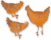 Kreative Feder Edelrost-Set Huhn Hühner Tier