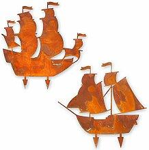 Kreative Feder Edelrost-Set Segelschiff Maritim