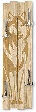 Kreative Feder Wolf | Shabby chic Holz-Garderobe |