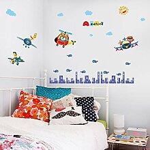 Kreative Flugzeug Cartoon Wohnzimmer Schlafzimmer