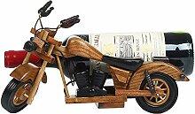 Kreative freistehende Weinregale Motorrad Holz