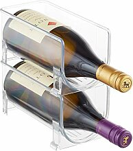Kreative freistehende Weinträger transparent