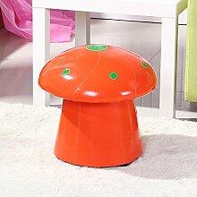 Kreative Frucht ändern Schuhe bench Cartoon Kinder Leder Hocker Kind kleine Sitzbank sofa Hocker Teich Mode Schuhe kurze Hocker, Pilze, orange