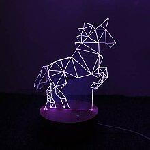 Kreative Geschenke der Einhorn-Lampe 3D LED