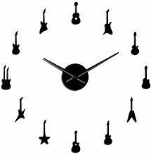 Kreative Gitarrenmusik DIY Wanduhr Riesenmusik