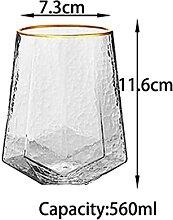 Kreative Glas Weingläser Home Hammered Becher