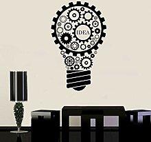Kreative Glühbirne Wandaufkleber Büro Business