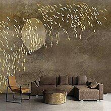 Kreative Goldtausend Vögel Tapete für Kinder S