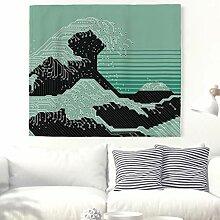 Kreative Große Welle von Kanagawa Wandteppich