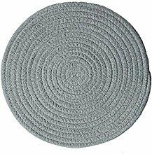 Kreative handgefertigte Baumwoll-Tischsets Durable Insulation Pad, 30CM, Grau