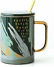 Kreative Hause Keramik Kaffeetasse, Löffel Mit