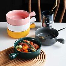 Kreative japanische Keramik gebackene Reisschale