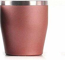 Kreative Kaffeetasse Edelstahl Weinglas Doppel