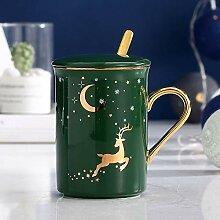 Kreative Keramik-Becher, Kaffeetasse Deckel