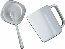 Kreative Keramik-Becher, Löffel Tasse Mit Großer