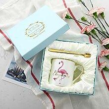Kreative Keramik Kaffeetasse, Flamingo Becher,