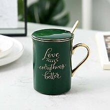 Kreative Keramik Kaffeetasse, Löffel