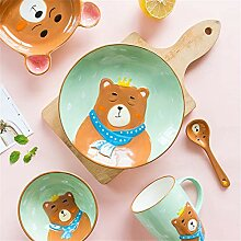 Kreative keramik kinder teller geschirr hause