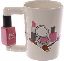 Kreative Keramik-Nagellack-Tassen,