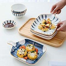 Kreative keramische Platte im japanischen Stil mit