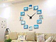 Kreative Kombination Foto Wand Wandrahmen Set, Esszimmer Wohnzimmer DIY Bilderrahmen Wand + Wanduhr ( Farbe : 2# )