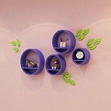 Kreative kreisförmige Wandregal Wohnzimmer Runde