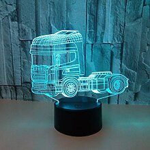 Kreative Lampe des Nachtlichtes des LKW-3d Acryl