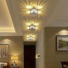 Kreative LED Lampe Nachttischlampe TV Licht Schlafzimmerwand bars KTV dekorative Leuchten Lichter innen schwarz Wandleuchte, LED3 w 7 Farbe Kontrolle