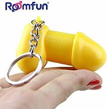 Kreative Lustige Schlüsselanhänger. Parodie Dick