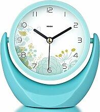 kreative Modeuhren Schlafzimmer Nachttisch Spiegel Uhr Persönlichkeit Tischuhr Uhr im Büro-A