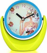 kreative Modeuhren Schlafzimmer Nachttisch Spiegel Uhr Persönlichkeit Tischuhr Uhr im Büro-B