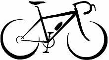 Kreative modische fahrrad wandaufkleber
