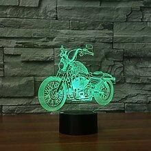 Kreative Neue Motorrad Touch Tischlampe 7 Farben