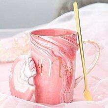 Kreative Paar Keramik-Becher, Deckel Einfache