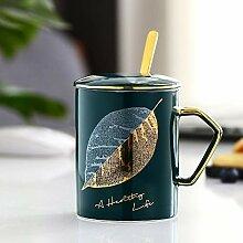 Kreative Paar Keramik-Kaffeetasse, Löffel