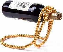 Kreative Perlenkette Weinregal ausgesetzt
