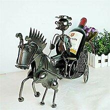 Kreative Pferd Pull Auto Modellierung rot