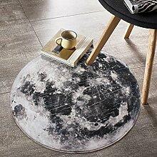Kreative Planet Mond Muster Runde Teppich