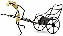 Kreative Rickshaw Wagen Weinregal Retro Eisen
