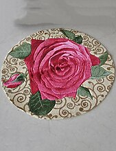 Kreative Rosen Muster Haushalt Badezimmer Komfortable Anti-Rutsch-Wasserabsorption Tragen Schlafzimmer Studie Wohnzimmer Zimmer Teppich ( größe : 100cm )