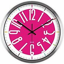Kreative Runde Wanduhr Einfache Stille Hängenden Tisch Kunst Mode Uhr Rosa Rosa Hochzeit Uhr -Wall clock ( Farbe : B )