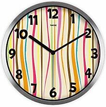 Kreative Runde Wanduhr Mode Kreative Warme Schlafzimmer Hängenden Tisch High-Definition Glasspiegel Wanduhr Ruhige Wandmalerei Mode Kunst Farbe Schlafzimmer Uhr Charme Farbe Bar Uhr -Wall clock ( Farbe : B )