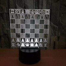 Kreative Schach 3D Visual Stereo Tischlampe Senden