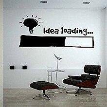 Kreative Shop Wandaufkleber Glühbirne Lampe