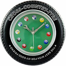 Kreative Snooker Tire Form Wanduhr Fashion Look Home Decoration (8'')