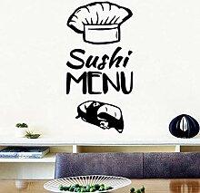 Kreative Sushi Menü Wandaufkleber Moderne Innen