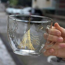 Kreative Tasse Eiffelturm Glas Teetasse Glasbecher