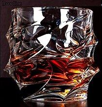 Kreative Tasse Platz Kristall Whisky Glas Tasse