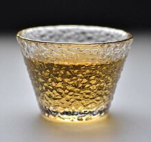 Kreative Tasse Weinschale Kaffeetassegold, Glas